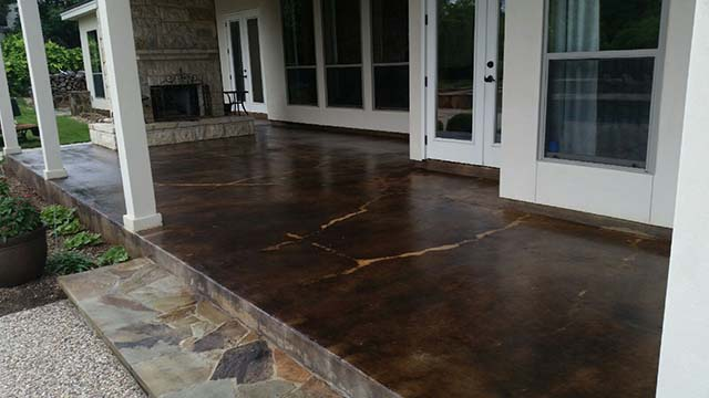 San Antonio Concrete Coating Stain