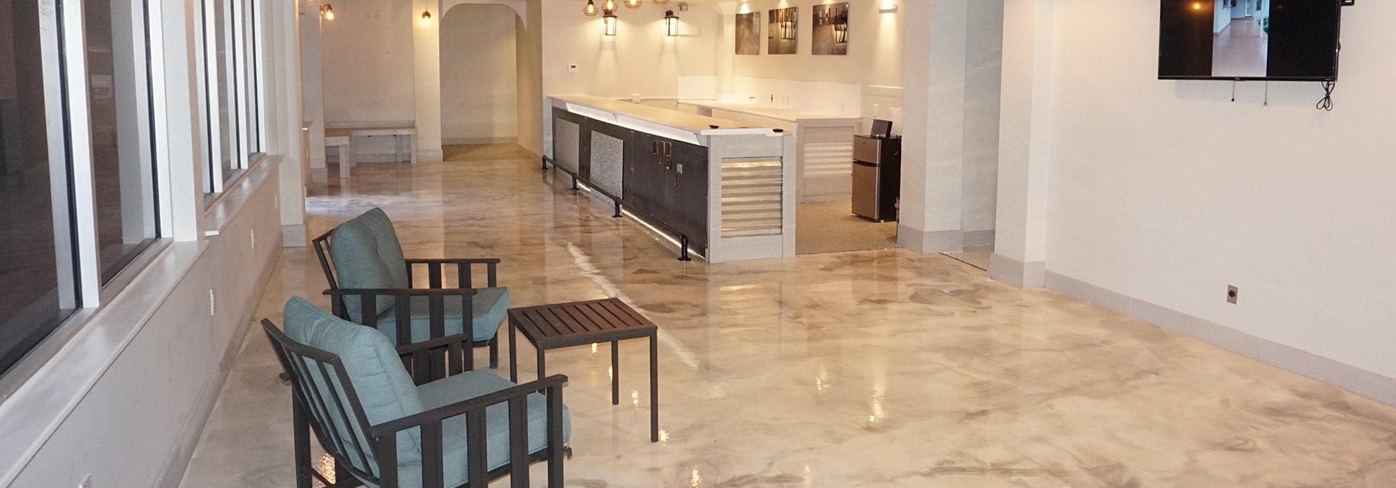 Waiting-Room-Stained-Floors-San-Antonio